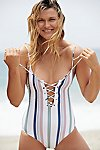 Thumbnail View 1: Striped Monahan One-Piece Swimsuit