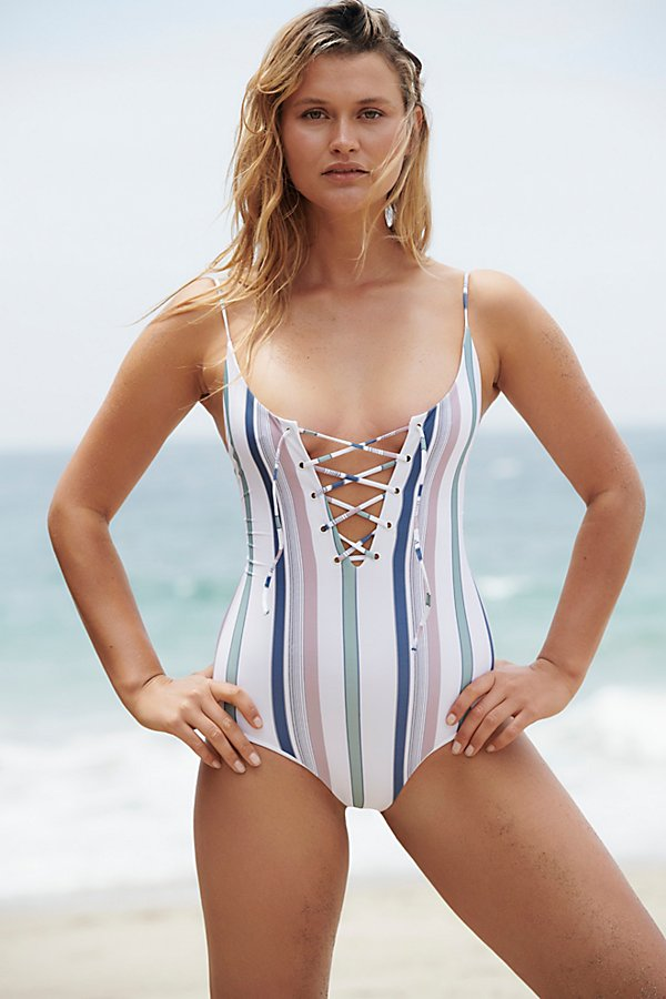 Slide View 2: Striped Monahan One-Piece Swimsuit