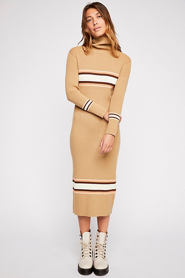 Slide View 1: Sport Stripe Midi Dress