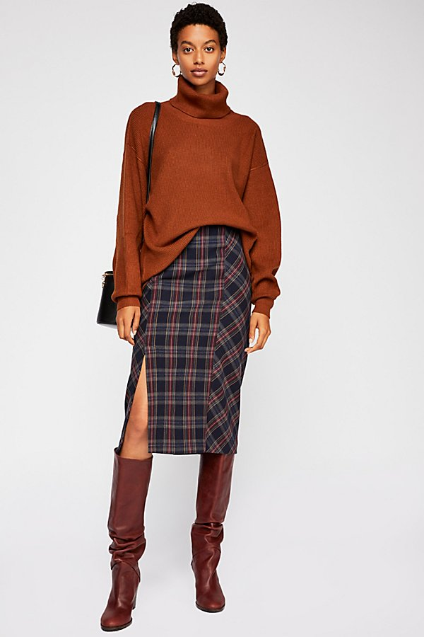 Slide View 1: See You Glow Plaid Skirt