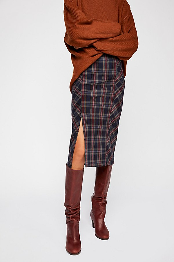 Slide View 2: See You Glow Plaid Skirt