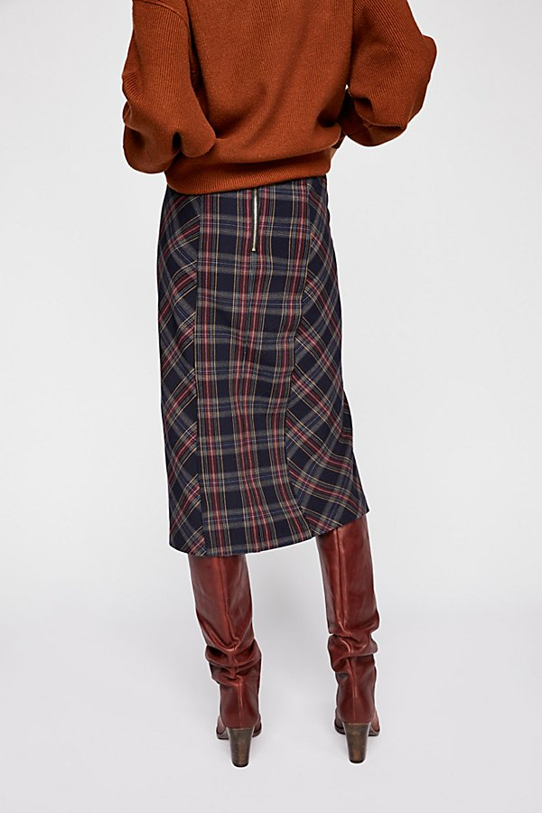 Slide View 3: See You Glow Plaid Skirt