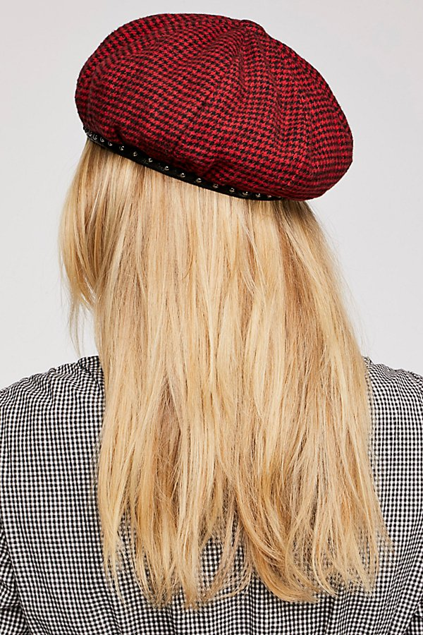 Slide View 2: Alice Studded Houndstooth Beret