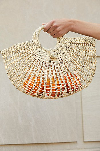 Lucie Straw Basket