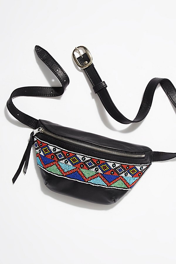 Slide View 2: Tallulah Beaded Leather Bum Bag