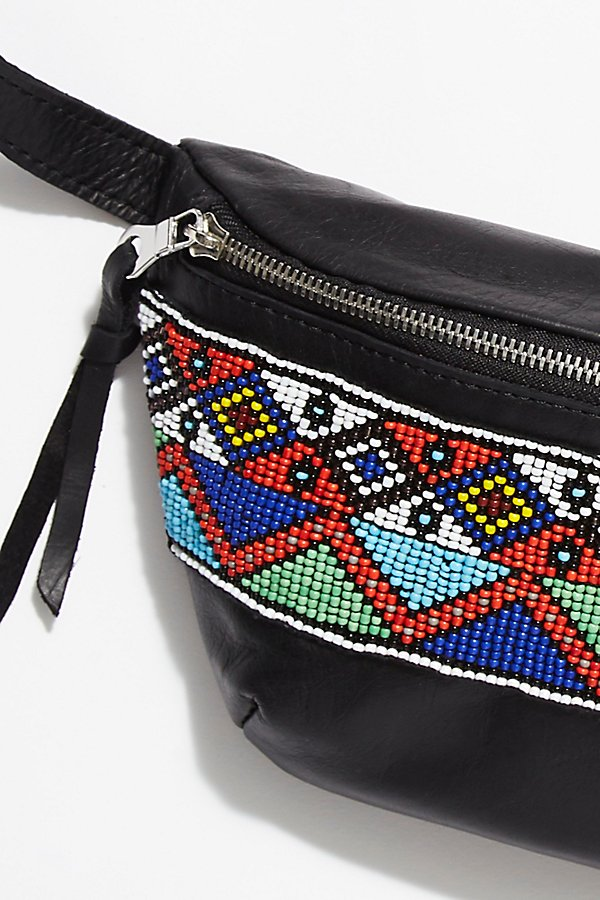 Slide View 3: Tallulah Beaded Leather Bum Bag