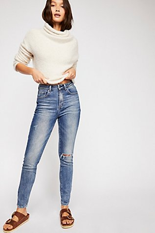 Slide View 1: Lee High-Rise Skinny Jeans
