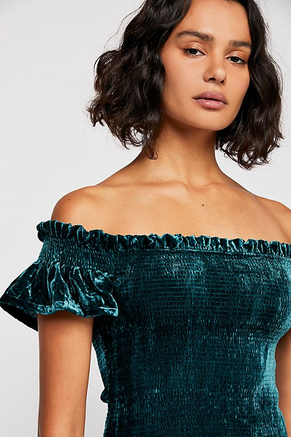 Velvet Smocked Top | Free People
