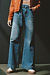 Thumbnail View 4: Ringer Denim Wide-Leg Jeans