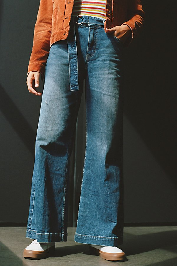 Slide View 4: Ringer Denim Wide-Leg Jeans