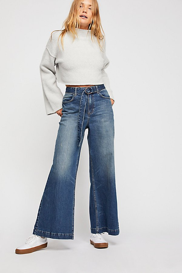 Slide View 1: Ringer Denim Wide-Leg Jeans