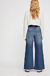 Thumbnail View 2: Ringer Denim Wide-Leg Jeans