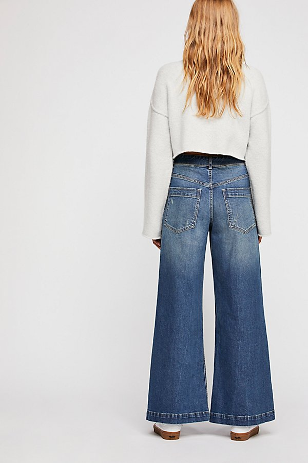 Slide View 2: Ringer Denim Wide-Leg Jeans