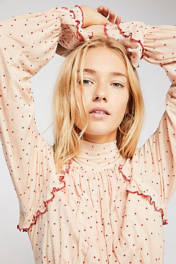 Sweet Romance Polka Dot Top