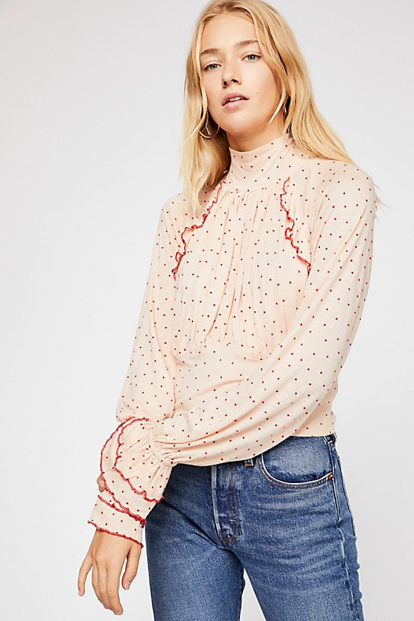 Slide View 2: Sweet Romance Polka Dot Top