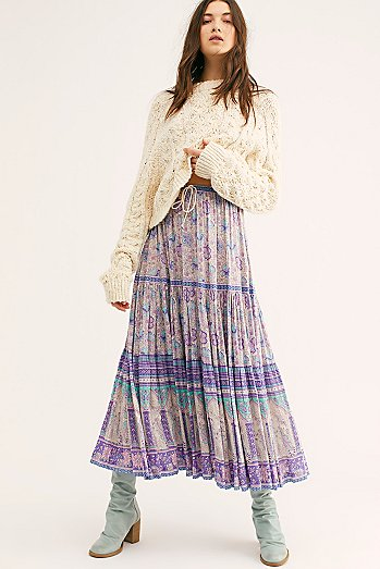 Poinciana Maxi Skirt