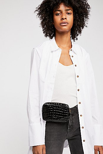 Kelly Croc Belt Bag