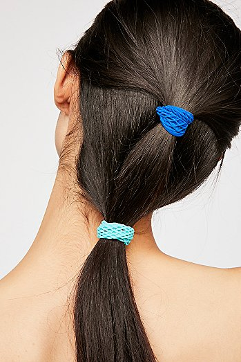 Fishnet Hair Ties 3pk