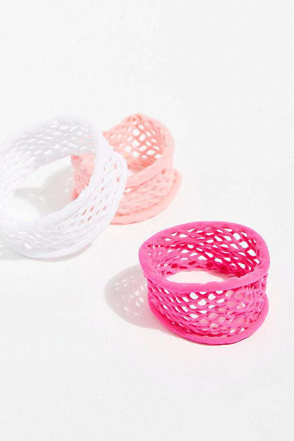 Slide View 2: Fishnet Hair Ties 3pk