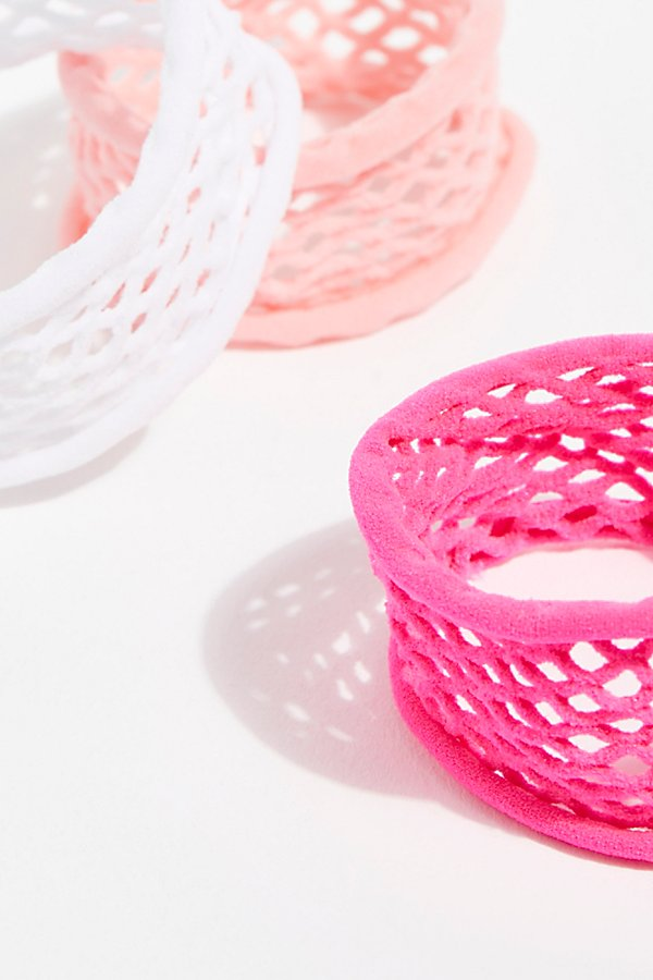 Slide View 3: Fishnet Hair Ties 3pk