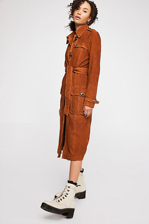 Slide View 3: We The Free Larsen Suede Trench