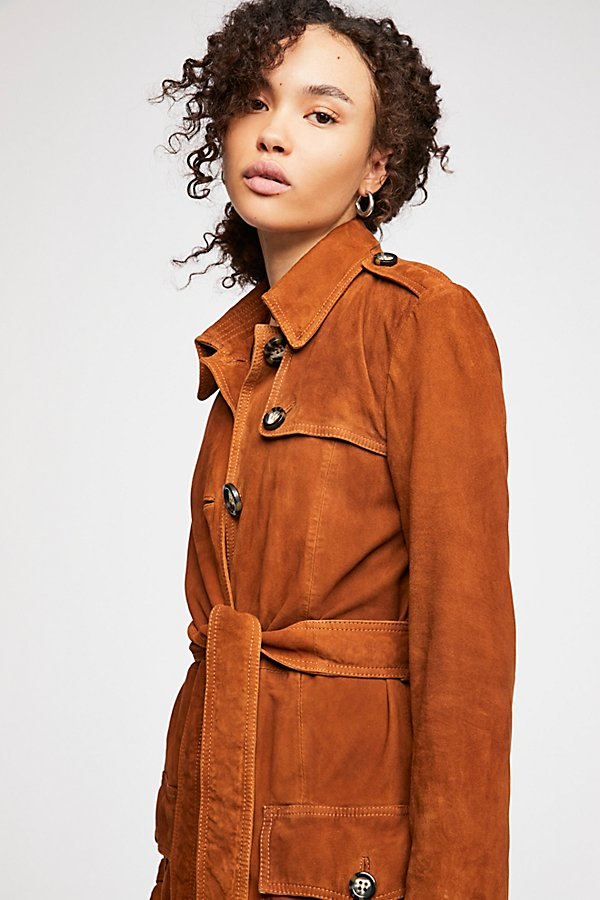 Slide View 5: We The Free Larsen Suede Trench