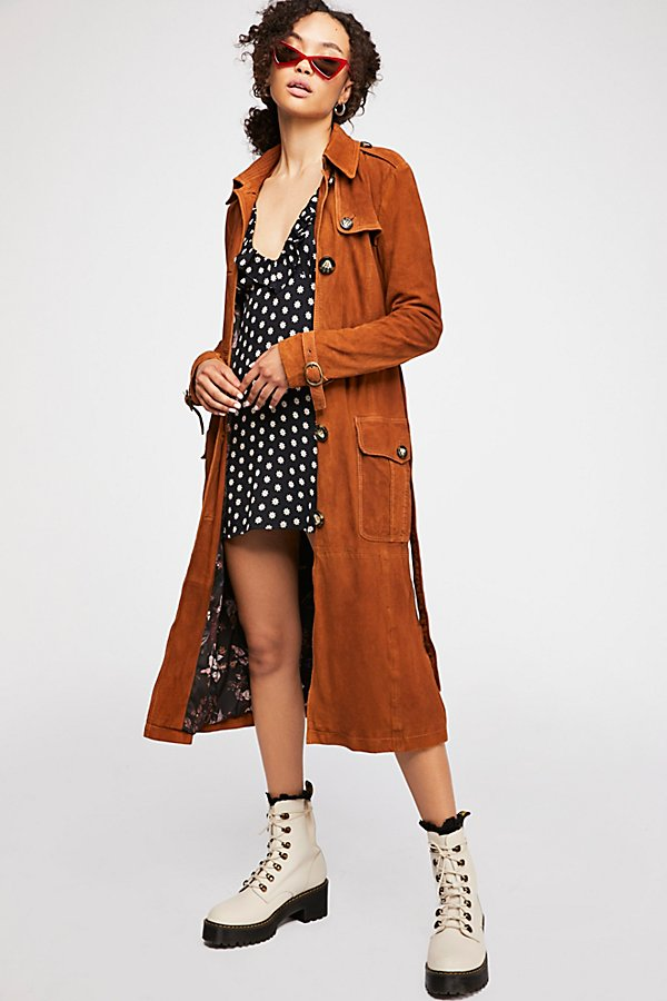 Slide View 6: We The Free Larsen Suede Trench