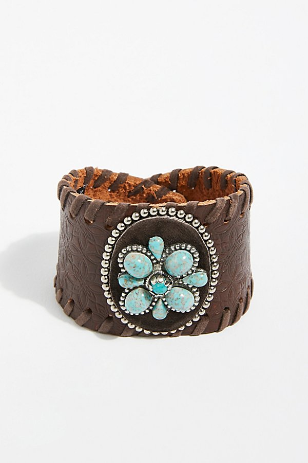 Slide View 2: Distressed Leather Cuff