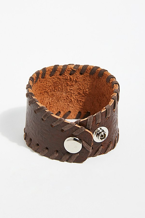 Slide View 3: Distressed Leather Cuff