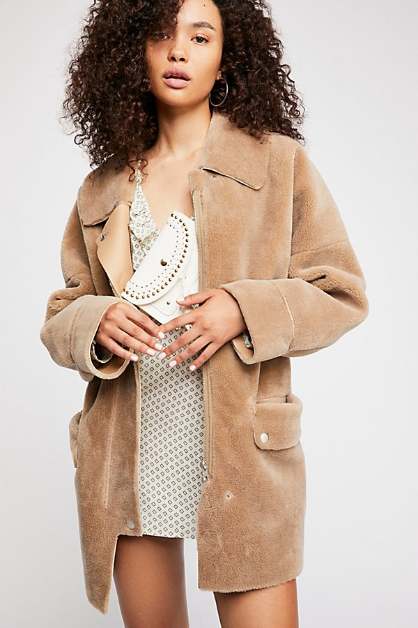 Slide View 1: Lindsay Faux Sherpa Coat