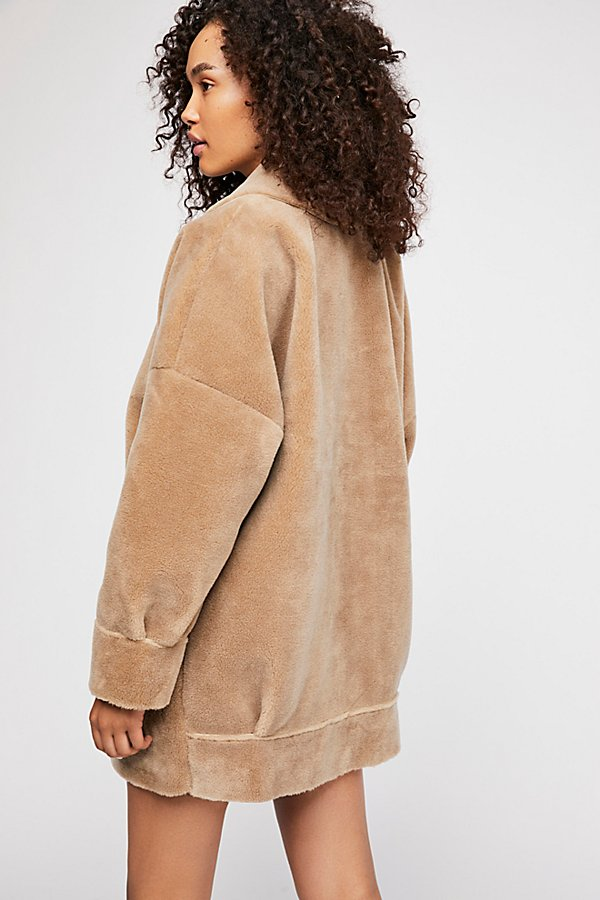 Slide View 3: Lindsay Faux Sherpa Coat