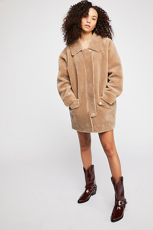 Slide View 5: Lindsay Faux Sherpa Coat