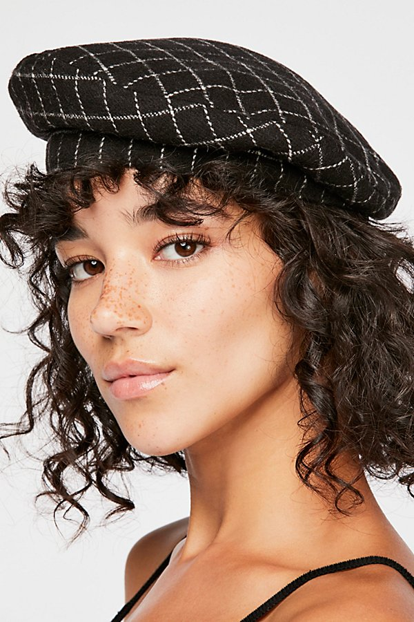Slide View 1: Check You Out Structured Beret