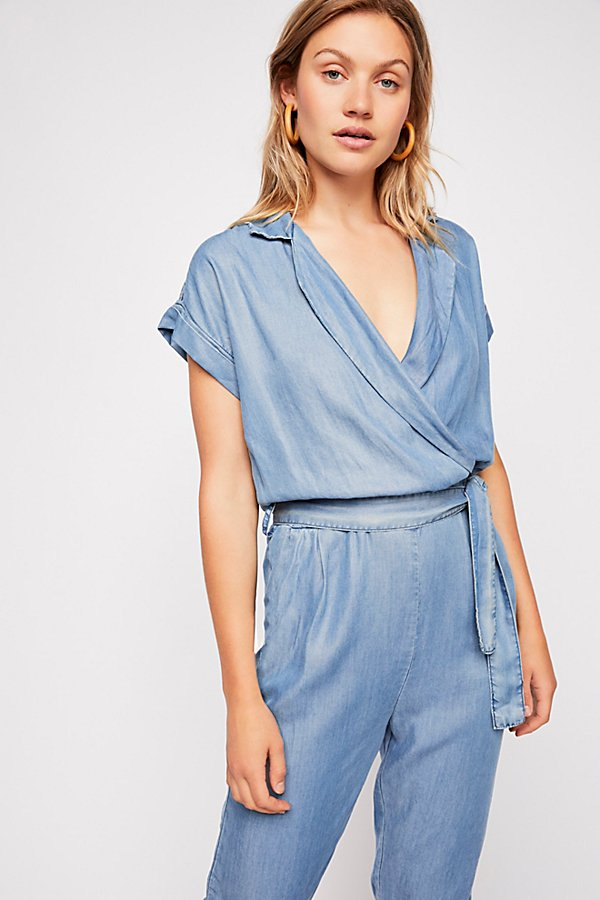 Slide View 3: Etienne Marcel Short Sleeve Chambray Jumpsuit
