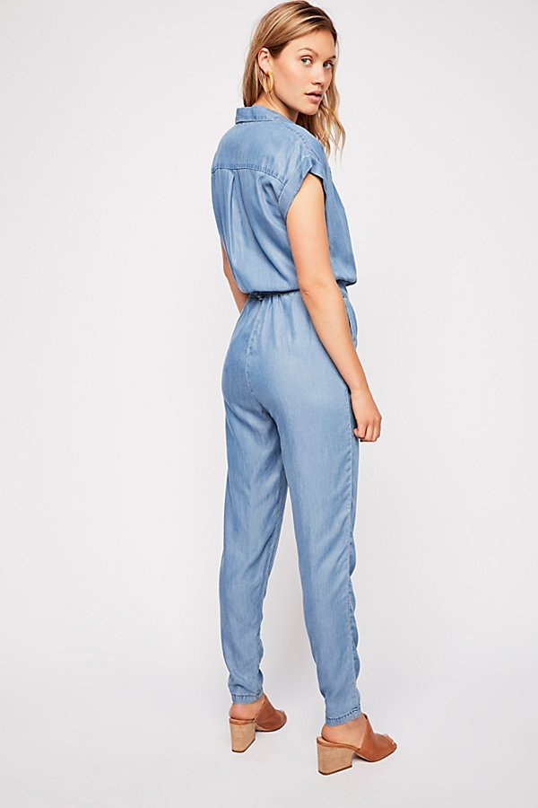 Slide View 2: Etienne Marcel Short Sleeve Chambray Jumpsuit