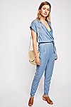 Thumbnail View 1: Etienne Marcel Short Sleeve Chambray Jumpsuit