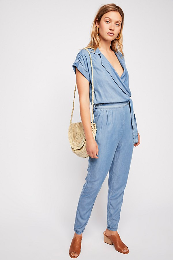 Slide View 1: Etienne Marcel Short Sleeve Chambray Jumpsuit