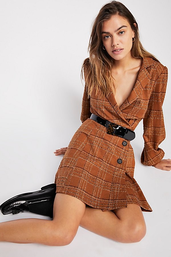 Slide View 1: Anna Plaid Mini Dress
