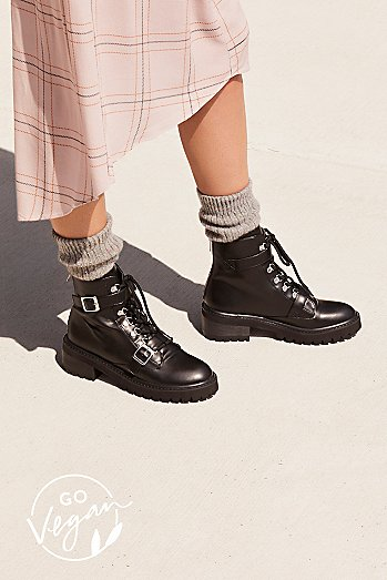 Vegan Slate Lace-Up Boot