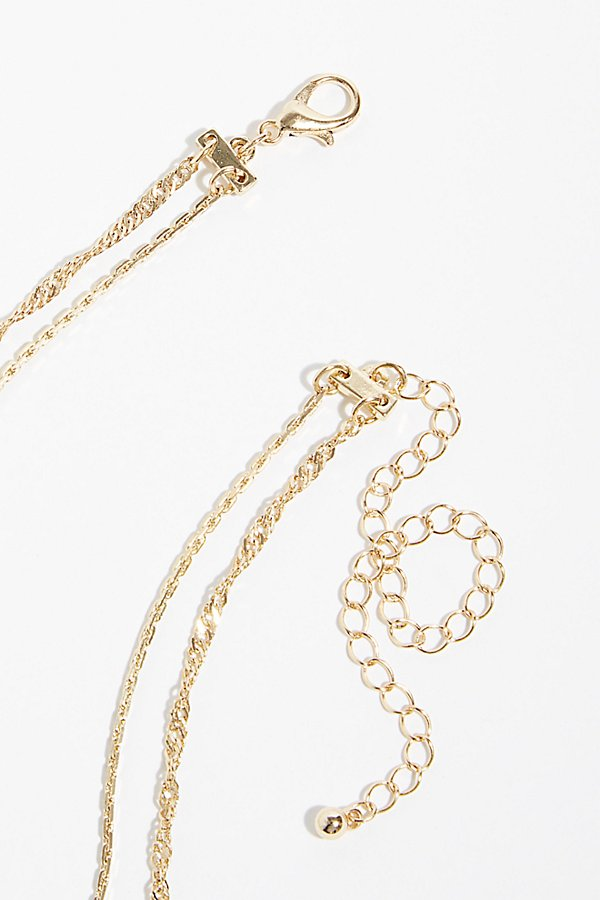Slide View 4: Double Chain Necklace