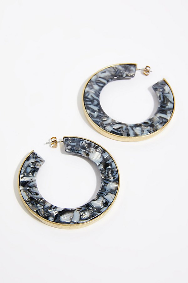 Slide View 3: Hidden Resin Hoop Earrings