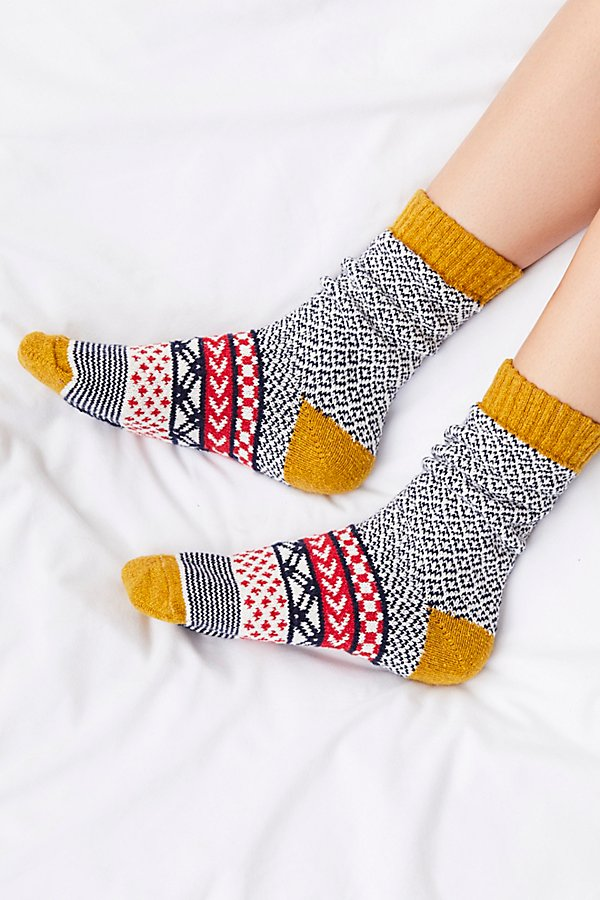 Slide View 1: Fairisle Camp Sock