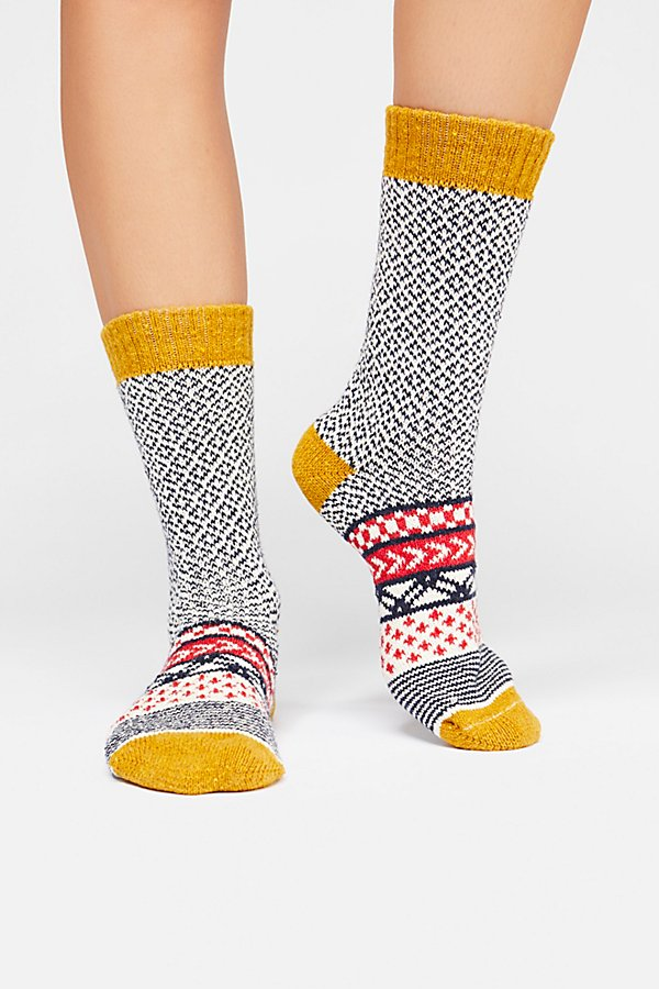 Slide View 2: Fairisle Camp Sock
