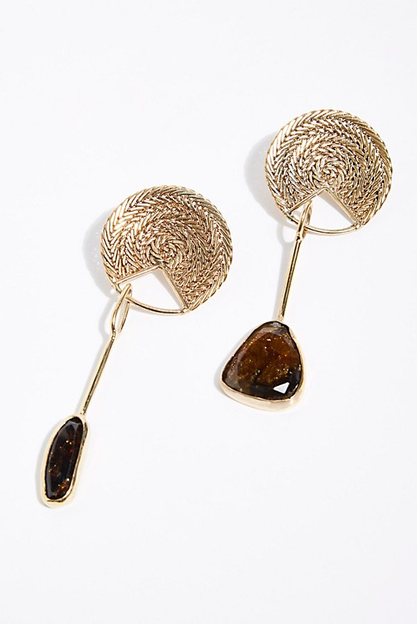Slide View 1: Sabine Tourmaline Drop Earrings