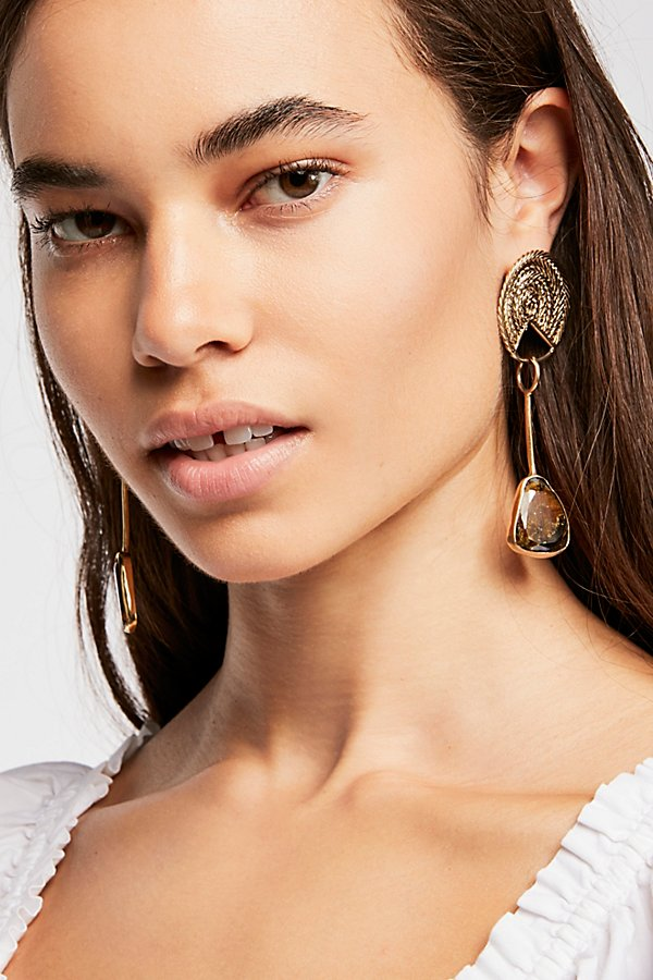 Slide View 3: Sabine Tourmaline Drop Earrings
