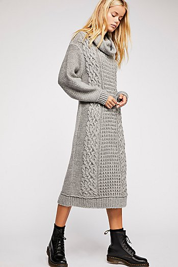 Perfect Cable Cowl Neck Dress