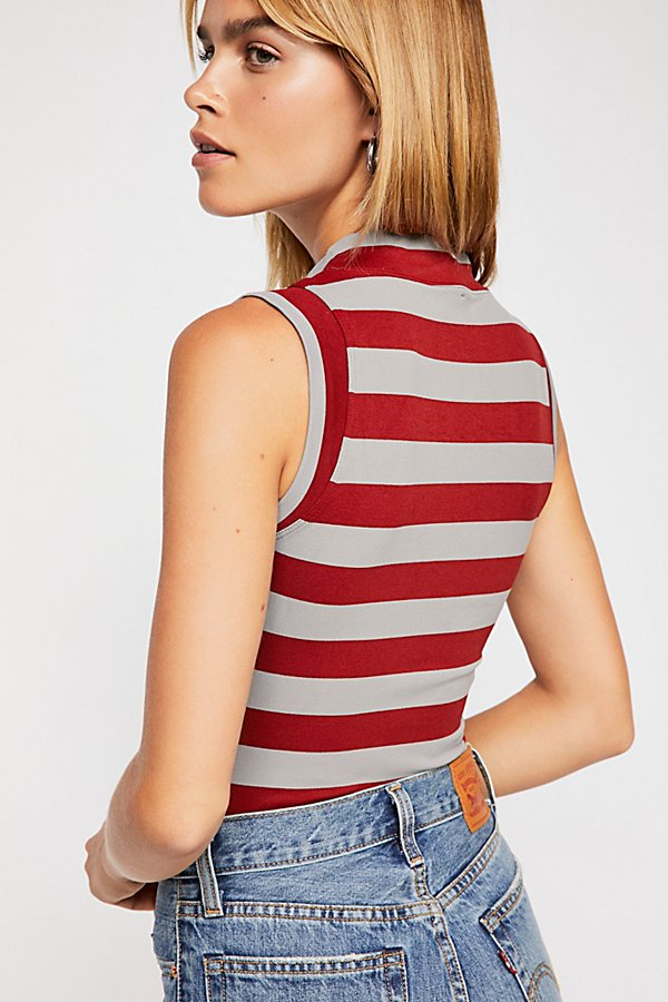 Slide View 3: Stripe Muscle Tank