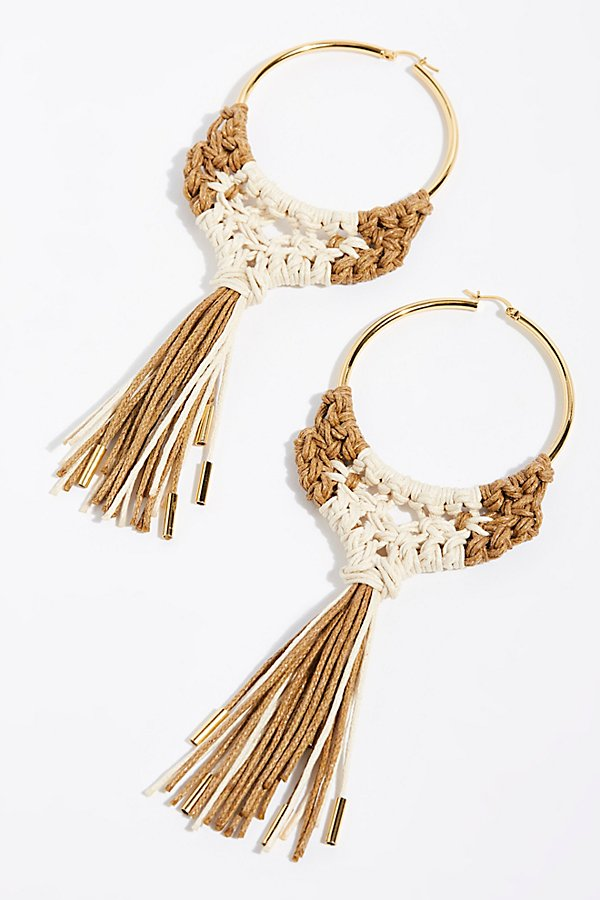 Slide View 2: Penacho Macrame Earrings