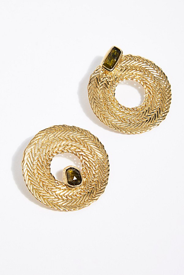 Slide View 1: Colette Tourmaline Hoop Earrings