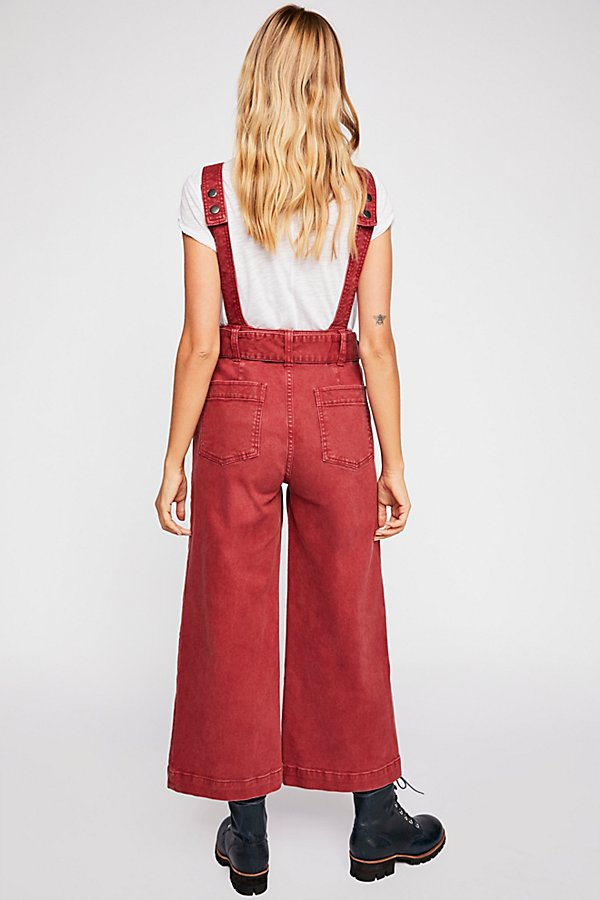 Slide View 2: Belted Twill Jumpsuit